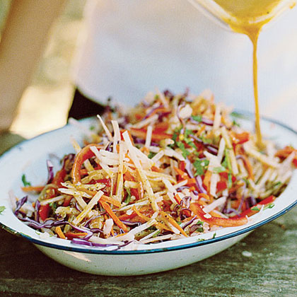 Jicama Slaw Gourmet Recipes for Your Glamping Adventure