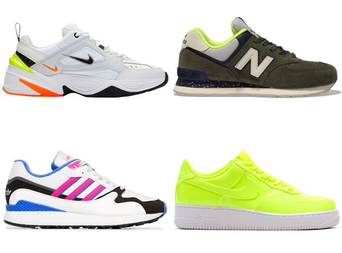 Neon trimmed sneakers for men