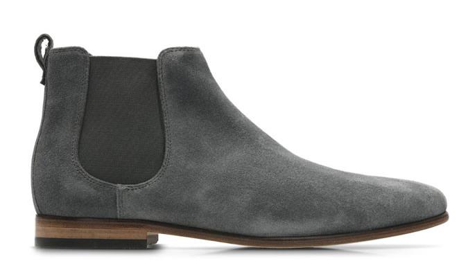 Mens Boots Dark Grey Suede