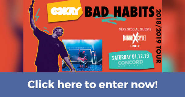 Win 2 Tix to See Ookay Live and Bonnie X Clyde in Chicago on January 11th (Contest on Hive.co)
