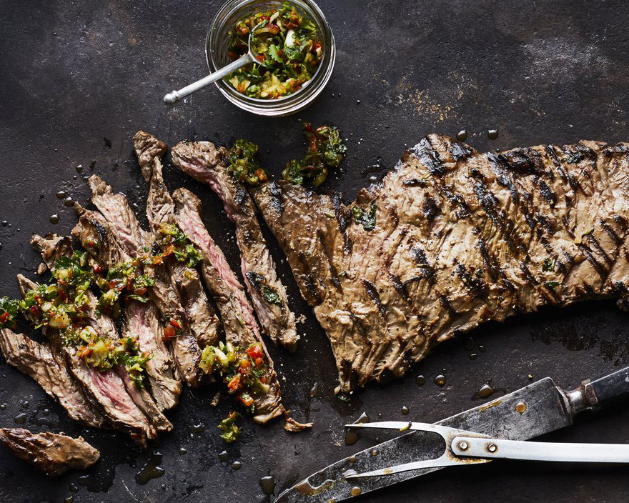 Gaucho Steak with 4-Herb Chimichurri Gourmet Camping Recipes for Your Glamping Adventure