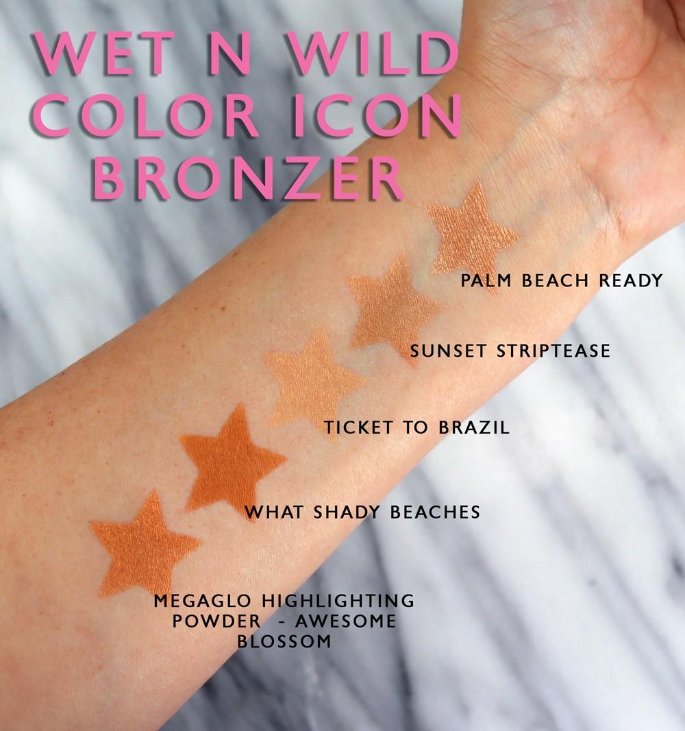Wet N Wild Coloricon Bronzer Swatches