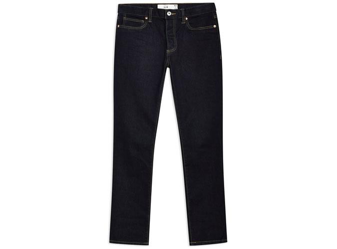 Raw Wash Stretch Slim Jeans
