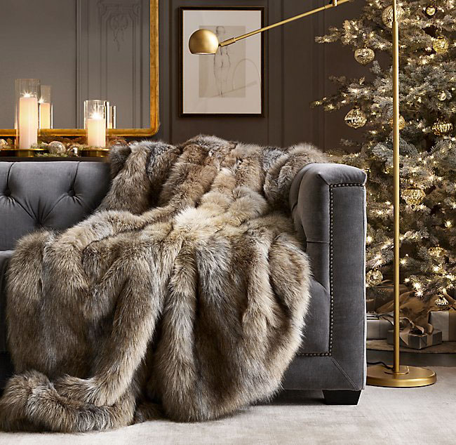 Restoration Hardware Ultimate Faux Fur Throw 5 Luxury Gifts to Surprise Your Love