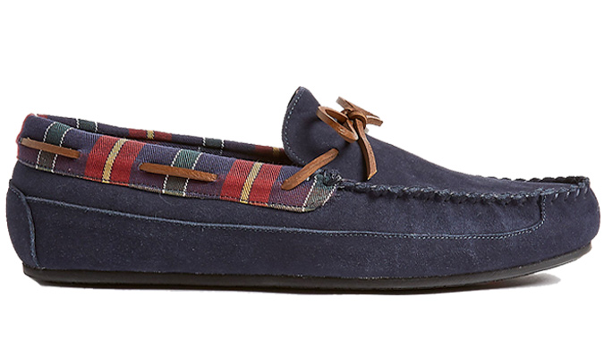 M&S COLLECTION Suede Slip-on Moccasin Slippers