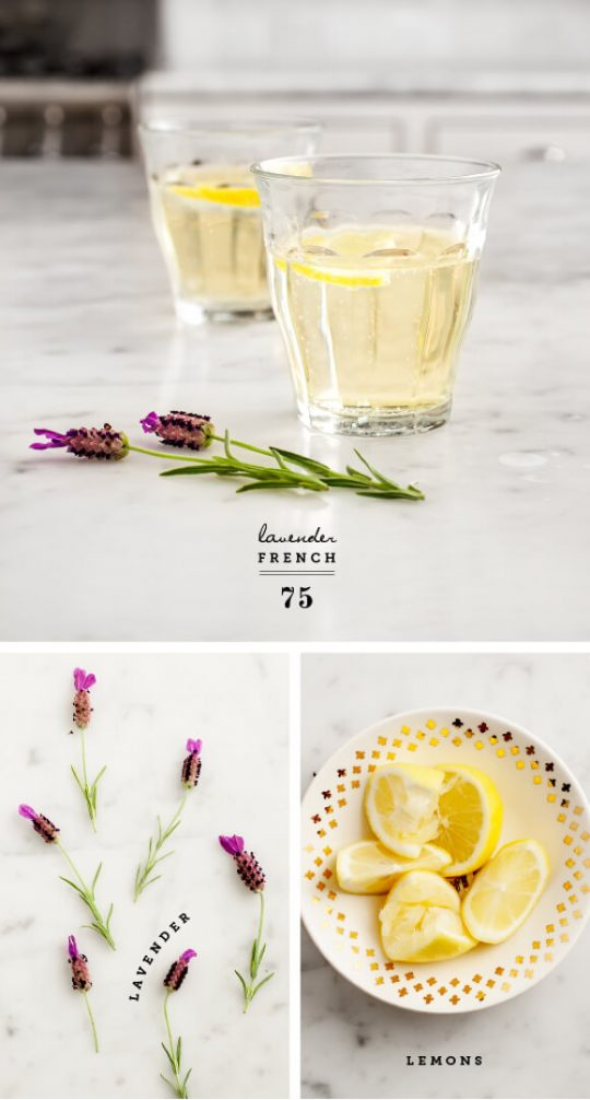 Lavender French cocktails for weddings