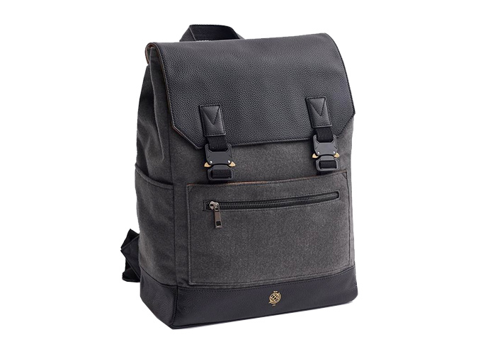 Backpack The Chapman Charcoal Wool Melton
