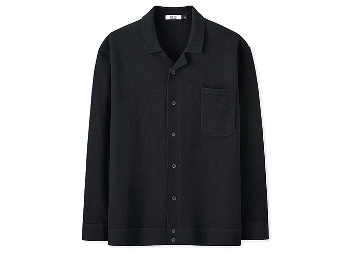 MEN UNIQLO U COTTON CASHMERE BLEND KNIT SHIRT