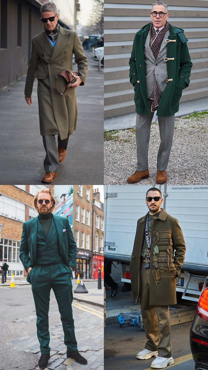 AW19 Street Style Trends Green
