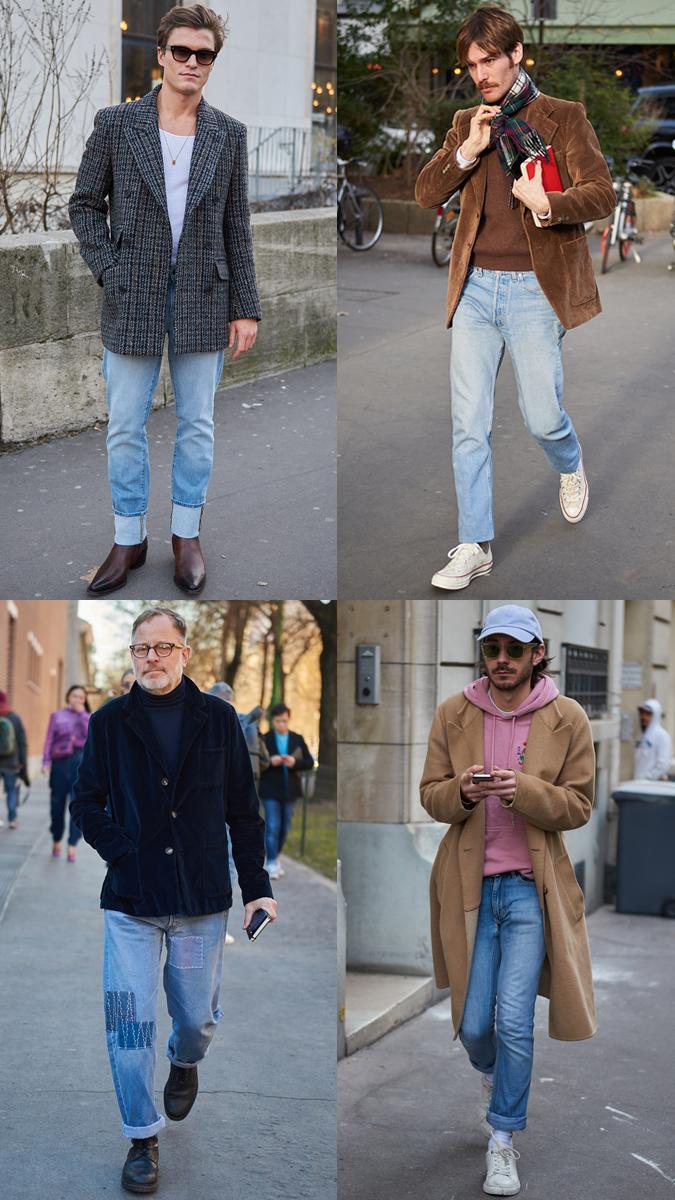 AW19 Street Style Trends Light Wash Denim