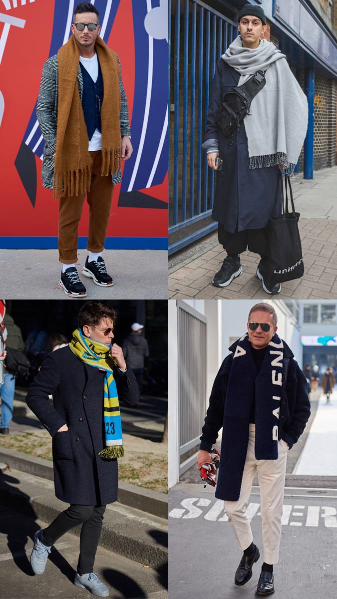 AW19 Street Style Trends Oversized Scarves