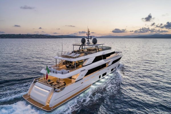 The yacht's world premiere was held at the Monaco Yacht Show in September 2018