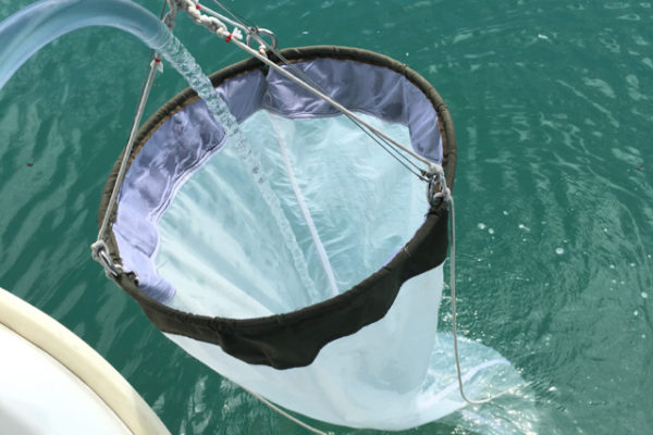 A plankton net used for water sampling in the UMT Ocean Monitoring Project, organised with SeaKeepers Asia
