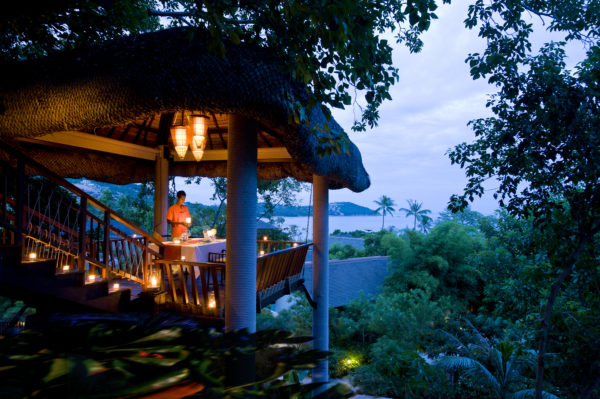 Tree Tops Sky Dining and Bar offers high-end dining high up in the jungle; Photo: Anantara Lawana Resort