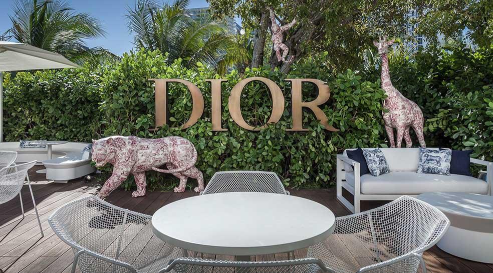 Decor in Miami Restaurant The Dior Cafe