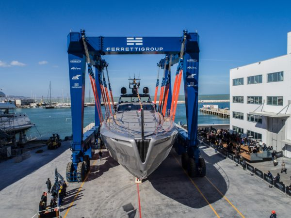 The 140 is Pershing's first aluminium superyacht