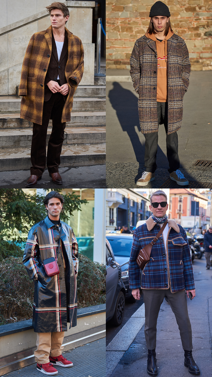 AW19 Street Style Trends Checked Outerwear