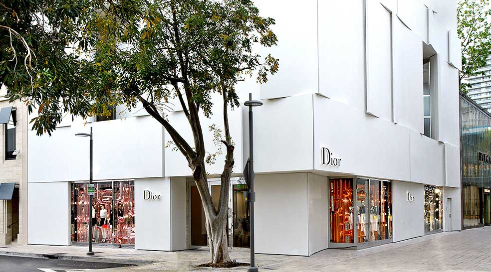 Location of Dior Cafe in Miami