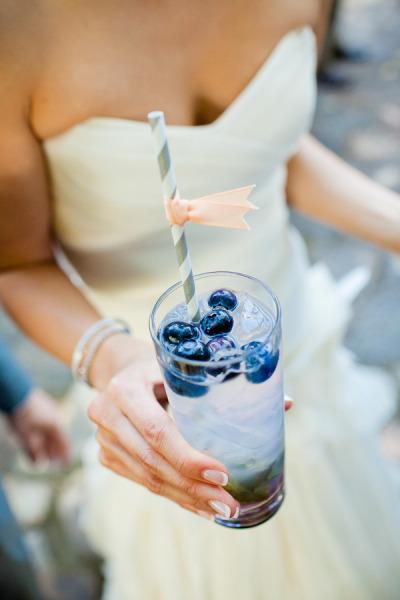 blueberry mojito wedding cocktails