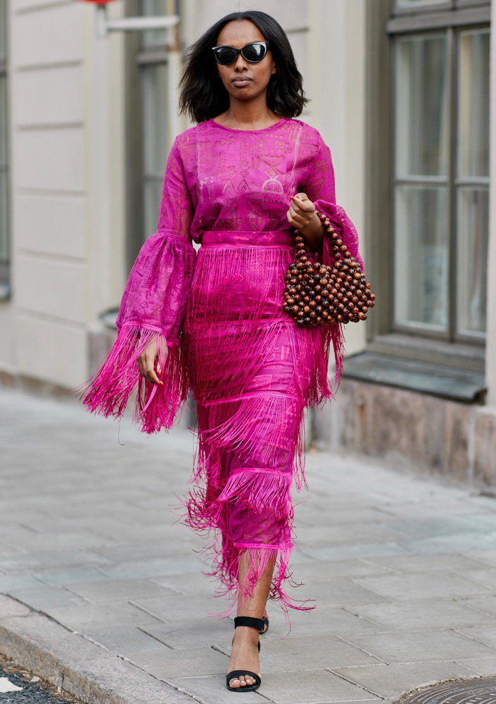 Beaded bags hit the streets.