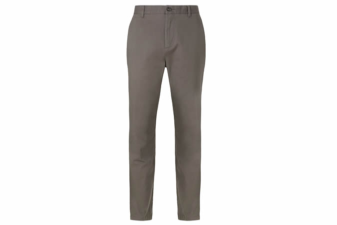 Kin Stretch Cotton Chinos, Grey