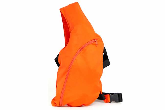 ASOS DESIGN cross body harness bag in orange
