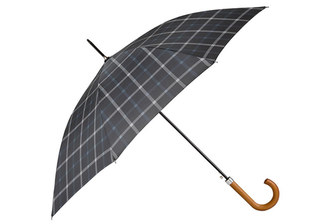 totes Mens Manual Check Walker Umbrella