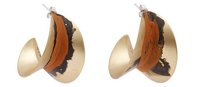 ALBUS LUMEN X Ryan Storer painted hoop earrings