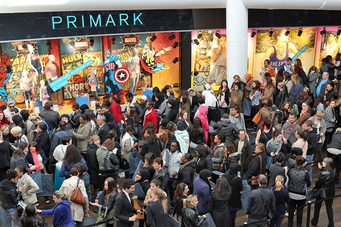Queues for a Primark store