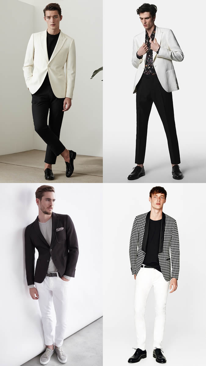 Smart-casual monochrome outfits