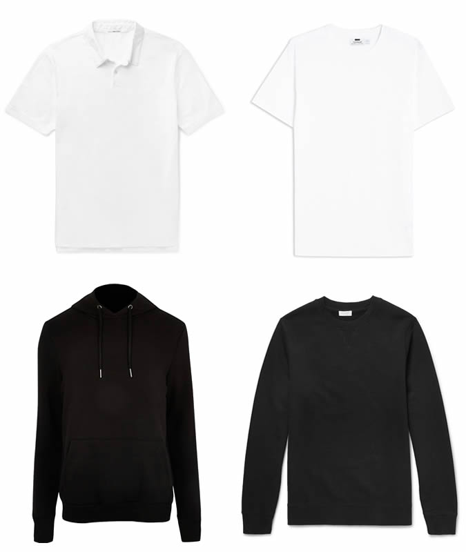 Monochrome basics for men