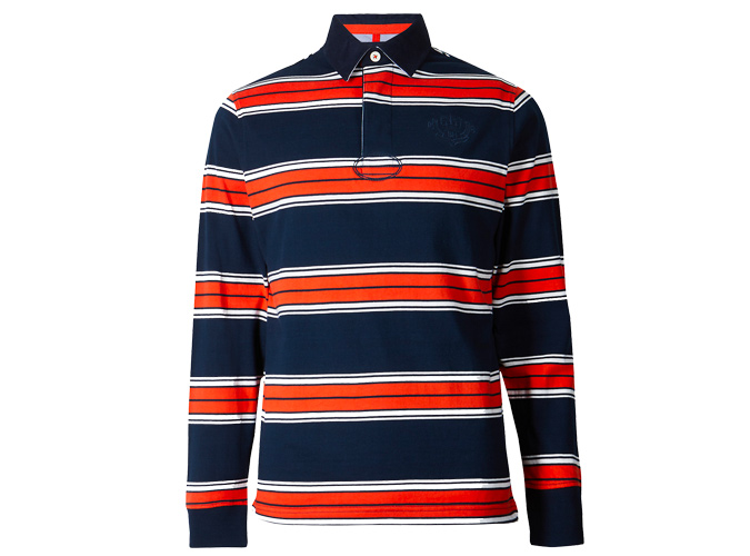 BLUE HARBOUR Slim Fit Pure Cotton Striped Rugby Top