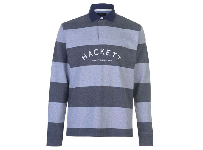 Hackett Classic Stripe Rugby Shirt