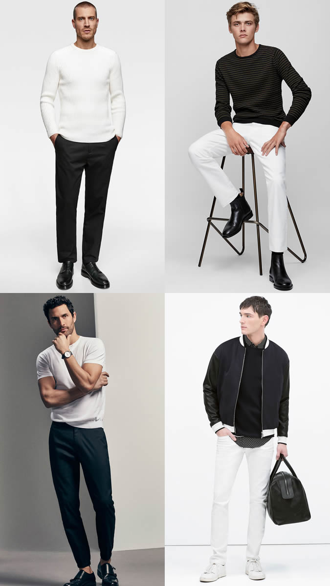 Monochrome outfits for the office