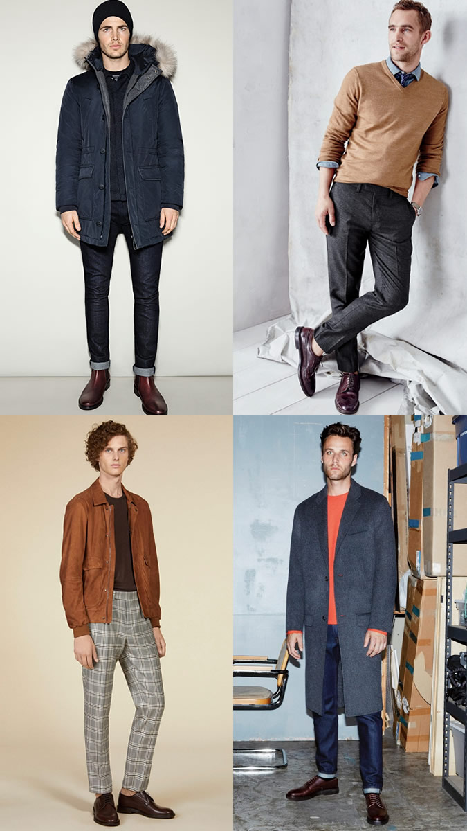 Oxblood shoes outfits for men