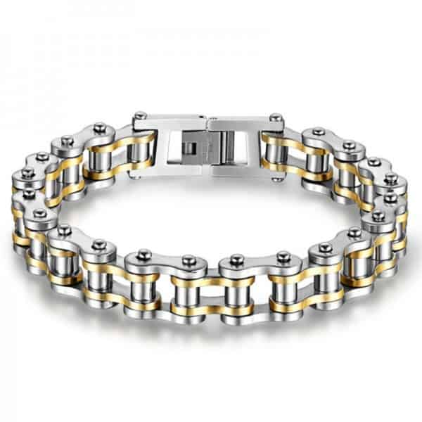 Cool Stainless Steel Men's Biker Chain Bracelet 6