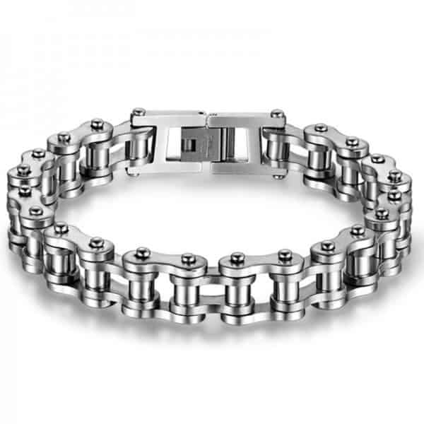 Cool Stainless Steel Men's Biker Chain Bracelet 4