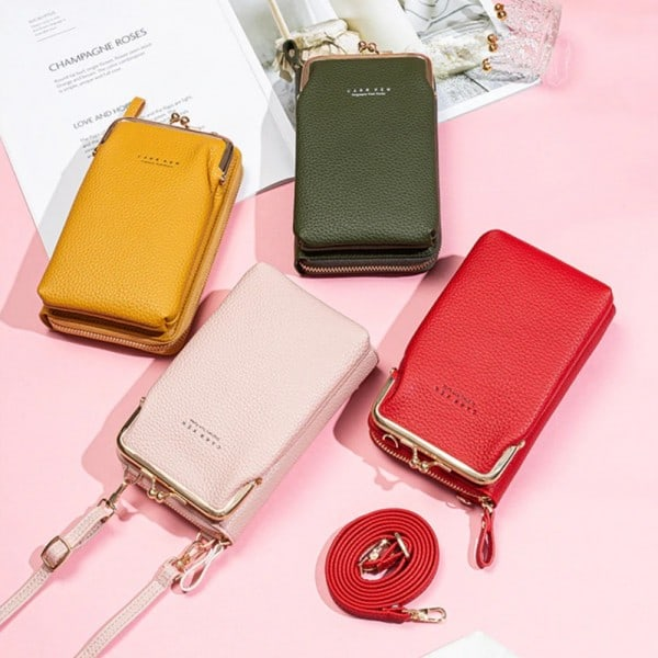 Women Phone Bag Solid Crossbody Bag 6