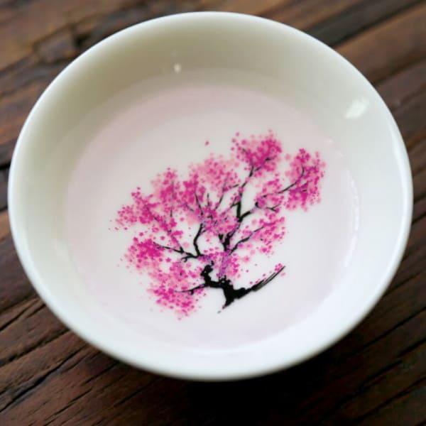 Japanese Magic Sakura Cup Cold Temperature Color Changing Flower display Sake Cup Ceramic Kung fu Tea Cup Tea Bowl 2
